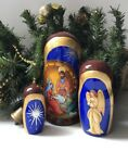 Christmas Matryoshka Nativity scene Russian Nesting dolls Babushka
