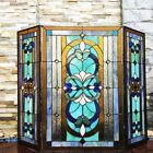 Mission Victorian Stained Glass Tiffany Style Fireplace Screen ONE THIS PRICE