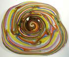 21 HAND BLOWN GLASS ART WALL BOWL TABLE PLATTER CANE PROCESS DIRWOOD n3513