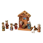 WoodWorks 11 Piece Nativity Set Featuring Children as The Holy Family an Angel