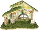 Wooden Nativity Stable Large Creche Measuring 8 1 2 Tall Moss Wood and