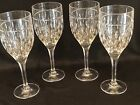Set Of 4 Beautiful RALPH LAUREN Crystal ASTON Water Wine Goblets Glasses Signed