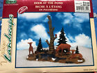 LEMAX Village Collection - 2000 DEER AT THE POND Poly-Resin Figurine