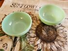 Lot of 2 Fireking Jadite Cereal Soup Bowls 5 inch Oven Ware
