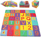 Kids Play Mat Alphabet ABC Numbers Shapes Educational Large Area Rug 59x59 Inc