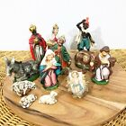 Vintage Nativity Creche Christmas Figures Animals Set of Twelve Japan