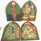 Cathedral Windows Paper Stained Glass Windows Nativity Scenes Christmas Decor
