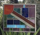 Stained Glass Window Panel With Art Glass Sun Catcher Handmade