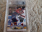 2003-04 IN THE GAME #30 GARNET EXELBY Signed HOCKEY Card Beckett SLAB NHL