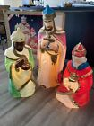 Vintage Empire Blow Molds Three 3 Wise Men Kings Lighted Nativity Original Box
