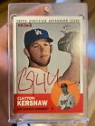2012 Topps Heritage Clayton Kershaw Red Autograph Auto 63! WORLD SERIES RARE!