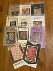 Quilt Patterns Lot 11 Small Quilts Wall Hangings Lap Quilts Full Size All NIP