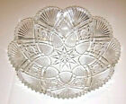 ABP Fruit Bowl Fans Star Teardrops American Brilliant Cut Glass Crystal Gorgeous