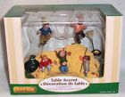 lemax 2005 autumn village table accent figurines - leafpile frolic