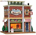 Xmas Village O'Connor's Billiards Lighted w/Stained Glass+Slot Machine+Dartboard