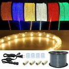 300ft LED Rope Light In Outdoor Cuttable Flexible Lights Strip Xmas Decorative
