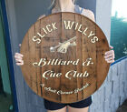 Personalized Billiard Bar Pool Hall decor for Home Sign Wall Art