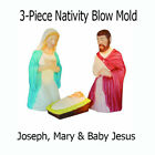 Lighted Nativity Set 3 piece 285 Scene Holy Family Large For In Outdoor Use