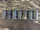 Vintage Lot of 7 Edison Blue Amberol Cylinder Phonograph Records 2974 2878 1530