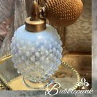 Vintage Translucent Opalescent Glass Hobnail Atomizer Perfume Bottle