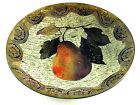 Laurel Wilder 2005 Pear Decoupage Bowl Signed  Numbered With Iron Stand XLNT
