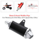 1PC 28mm Exhaust Muffler Pipe For Motorcycle Dirt Bike ATV Quad 50cc 150cc Kit