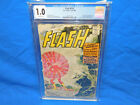 CGC 1.0 FLASH #110 KID FLASH WALLY WEST 1ST APPEARANCE 1959 OW PAGES
