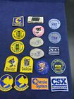 Vintage Lot of 18 Chessie CSX Cat Embroidered Patches Train Engineer Penn