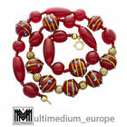 Vintage Murano Glas Halskette Collier Rot red glass necklace