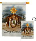 Birth of Jesus Garden Flag Nativity Winter Decorative Gift Yard House Banner