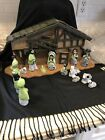 16 Piece Nativity Set Made In Mexico With Wooden Stable
