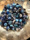 Large Lot Vintage Blown Glass Venetian Handmade Beads Jewelry Repair Craft Great