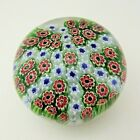 Vintage 6 Spoke Cartwheel Pattern Millefiori Glass Paperweight