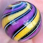 Hot House Glass Dichroic banded swirl marble 147 37mm 255