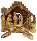 Large 11pc Faceless Nativity Set Figurines w Stable Christmas Gift from Israel