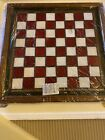 The Franklin Mint Coca Cola Stained Glass Chess Board Set Complete