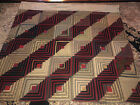 EARLY PRE 1930s ERA HAND STITCHED LOG CABIN QUILT Wall Hanging 1800s