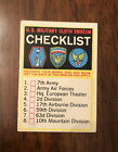 1965 Topps Battle #65 U.S. Military Cloth Emblem Checklist Clean Unmarked Nice