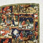 NEW Quilted Nativity Tree Skirt Christmas Treeskirt Handmade Hand Binding Jesus