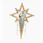 Outdoor Christmas Lighted Nativity Scene Display Sculpture Yard Decor Holy Star