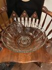 Vintage XLarge Indiana Glass Colonial Panel Punch Bowl Heavy7115
