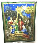 Cranston Christmas Nativity Quilt Wall Hanging Panel Jesus Stable 36 x 44