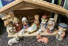 Vintage Sears Childrens Nativity Set Wood Creche in Box