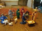 for Kids and children rubber christmas nativity 14 pc vintage set