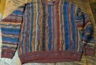 Vintage Florence Tricot size XL mens sweater rad hipster colourful Heavy warm