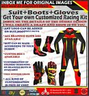 RIDING MOTORCYCLE SUIT MOTORBIKE LEATHER RACING GEARS Suit Boots Gloves CUSTOM