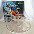 Longchamp Cristal DArques Crystal Two Tier Server Tidbit Tray In Box