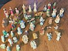 Large Mixed Vintage nativity set 41 pieces