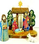 Wooden Russian Nativity Scene Set Uno Alla Volta Handcrafted