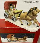 Dept 56 lemax style Christmas Village  Dickens Victorian Horse & Carriage 7